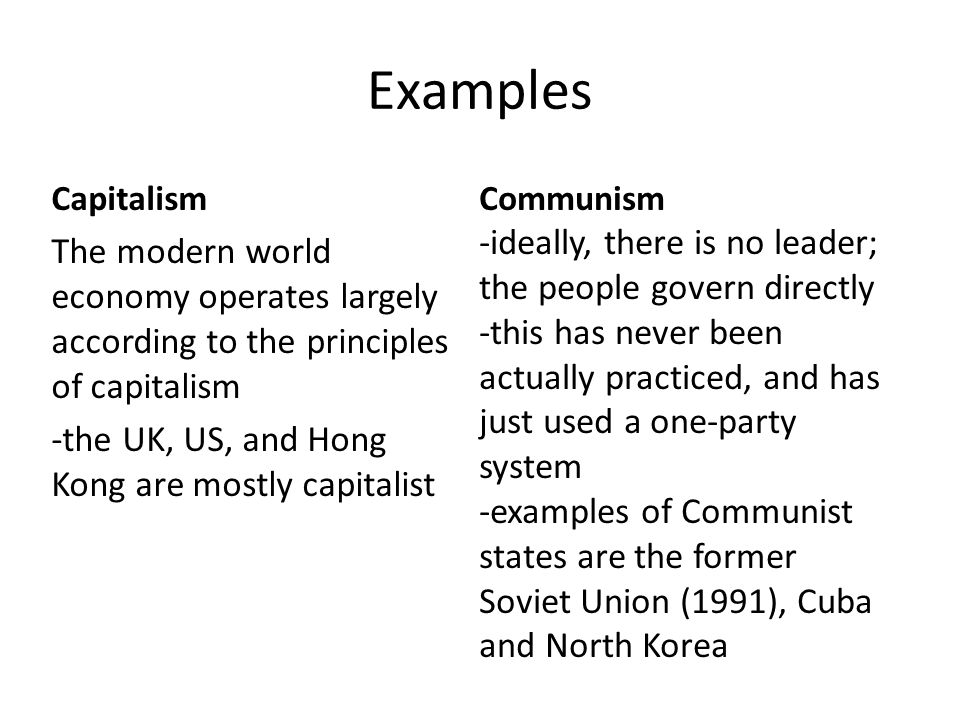 an analysis of the capitalism and communism economic systems Home commentary and analysis capitalism and why it still believe in capitalism as their preferred economic system and communism as systems.