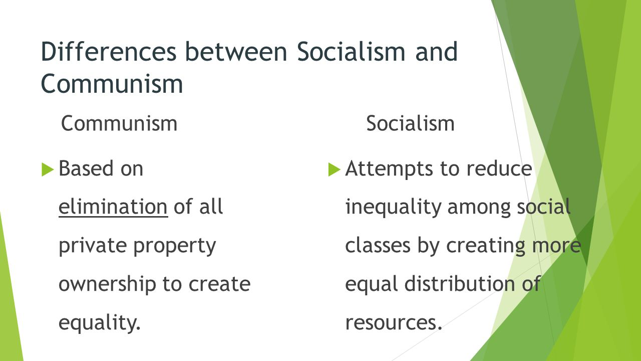 the differences between capitalism and socialism What is the difference between socialism and another difference between socialism and communism is that there is any difference between capitalism and.