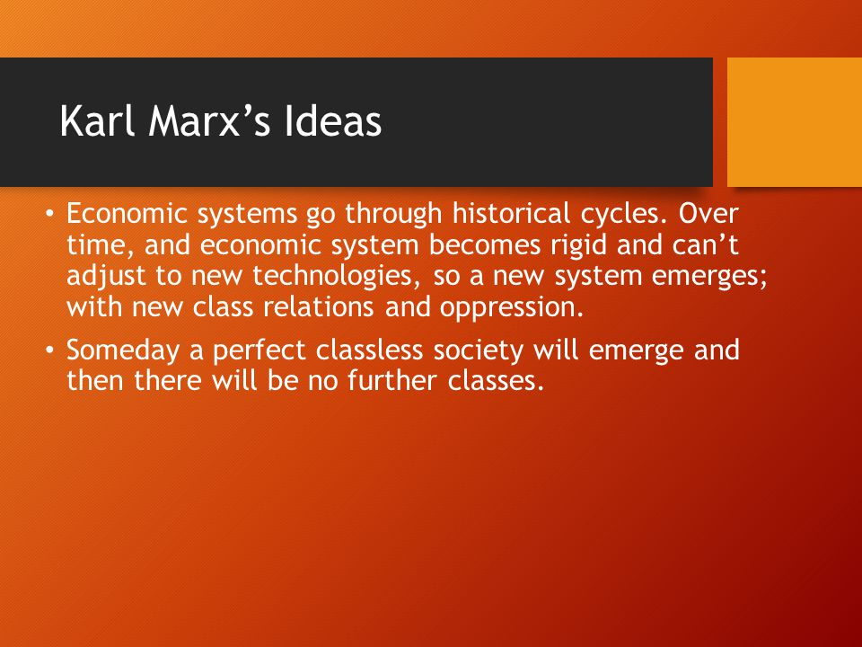 Karl Marx's Ideas