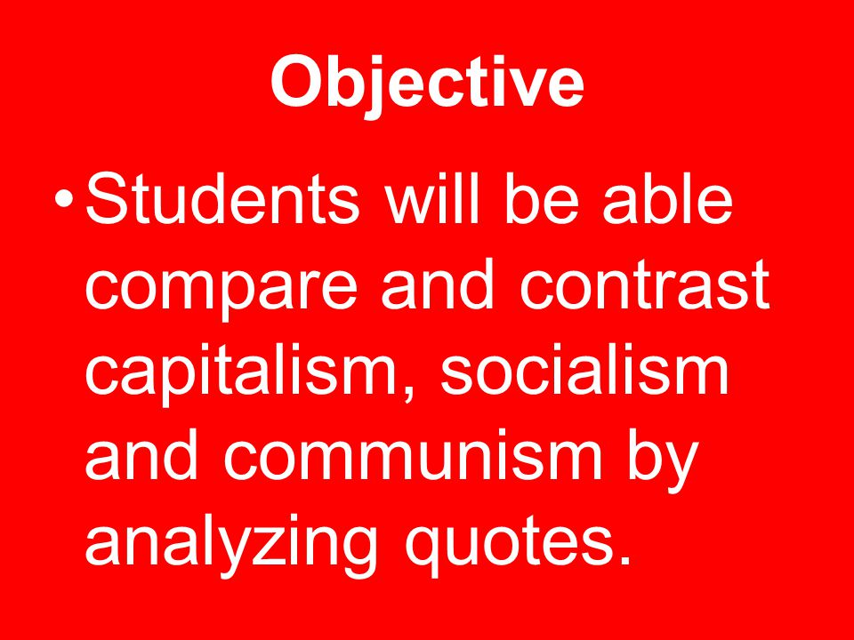 compare and contrast capitalism and socialism Explanation of difference between capitalism and socialism including - level of government intervention, inequality, efficiency,  capitalism vs socialism.