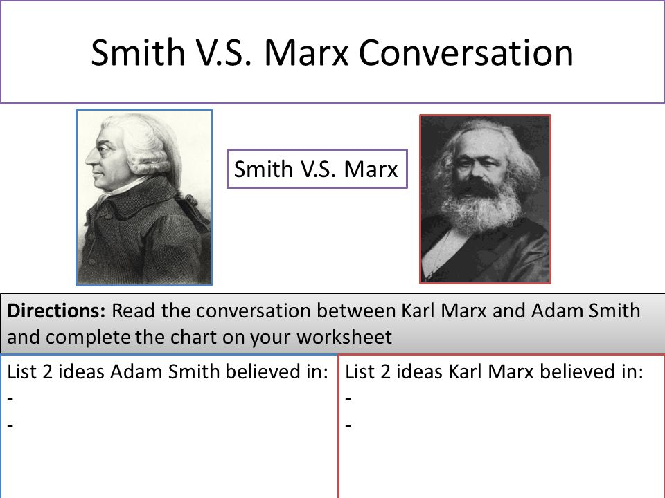 a hypothetical conversation between karl marx The english philosopher thomas hobbes  we can effectively divide power between government and  modern political philosophy: from machiavelli to marx.