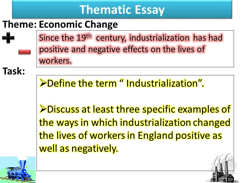 positive and negative effects of industrialization essay These are the effects of industrialization on the environment: pollution  industrialization normally adds to pollution in air, water, soil, due to the waste products it produces.