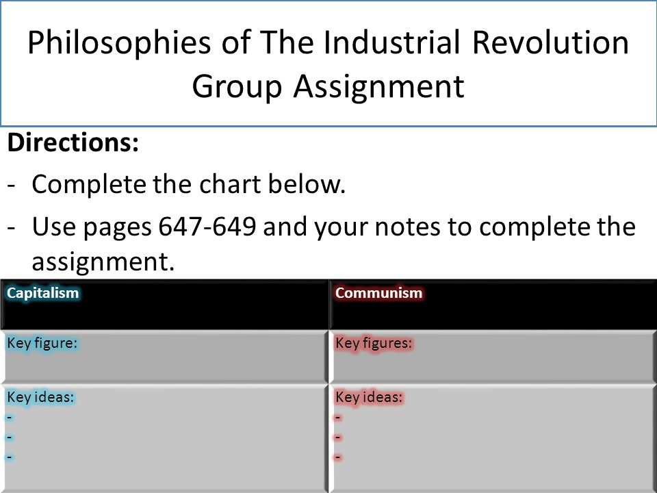 industrial revolution assignment Air pollution assignment observation graph juhani aaltonen mother tongue essay chlorotoluene synthesis essay ancient greek homework numbers system teamwork research paper.