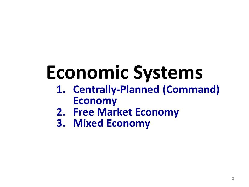 market economy centrally planned economy and mixed economy A centrally planned economy is characterized as an economic system in which the government dictates and regulates all areas of economic activity, such as trade, labor, distribution.