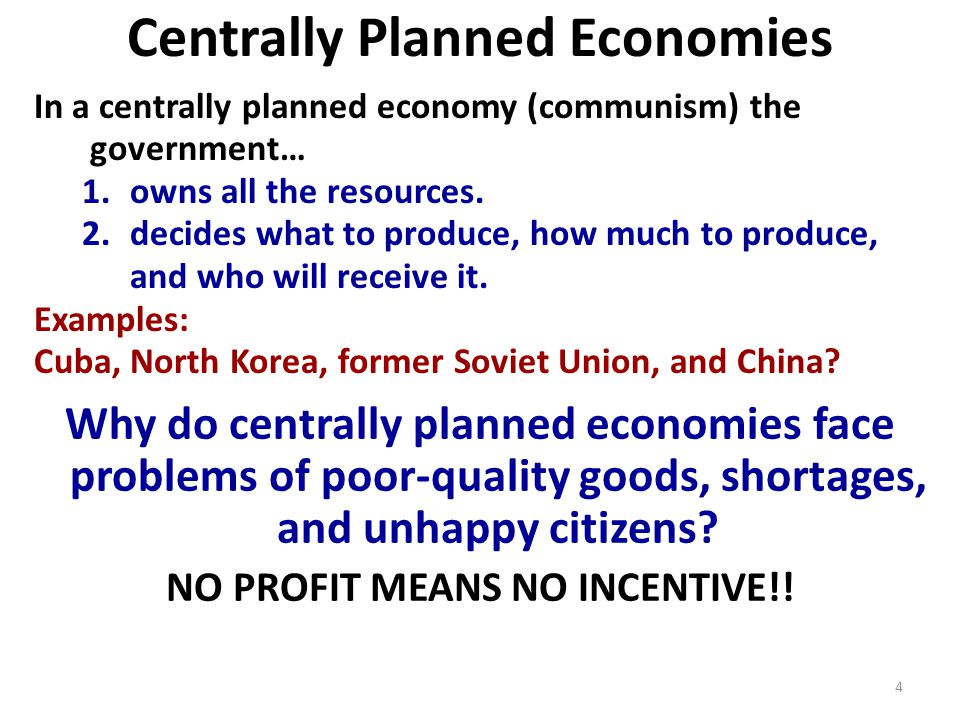 An Analysis Of The Centrally Planned Economy In The Former Soviet
