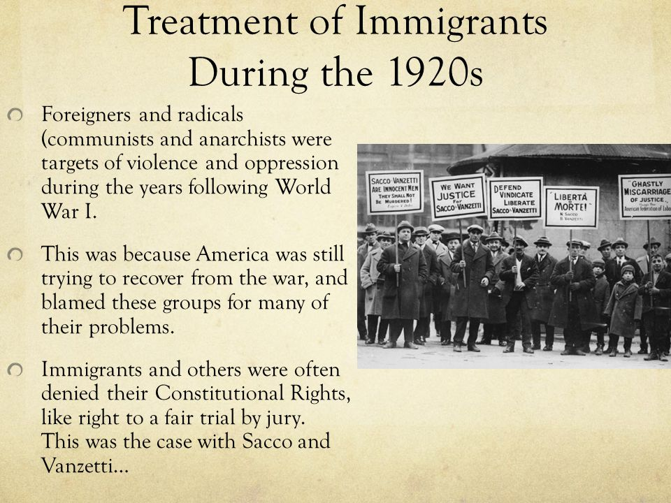 the issue of immigration and discrimination in the us in the 1920s How irish immigrants overcame discrimination in america  the white house  issues a proclamation about the irish experience in the united.