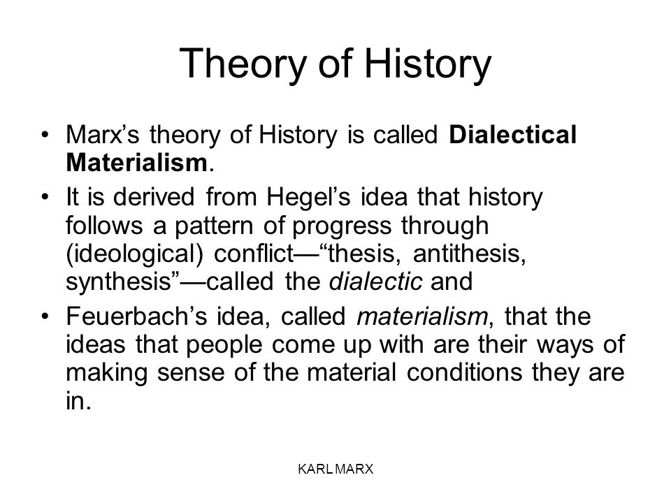 marx dialectical materialism