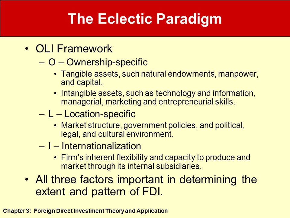 Foreign Direct Investment Theory And Application Ppt