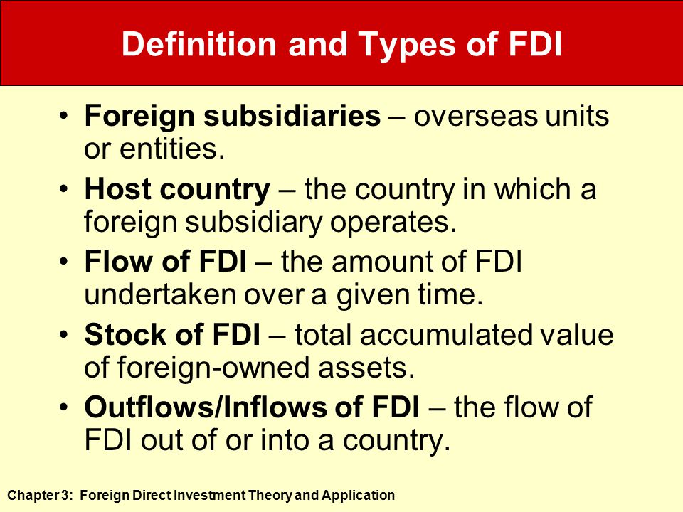 types and forms of fdi Explaining the forms of fdi in china: economic approach or political and policy explanations by yingying na yna@darkwinguoregonedu department of political science.