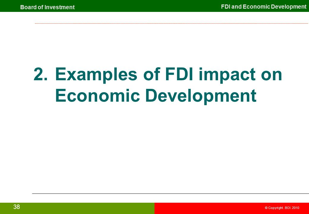 The impact of fdi on gdp