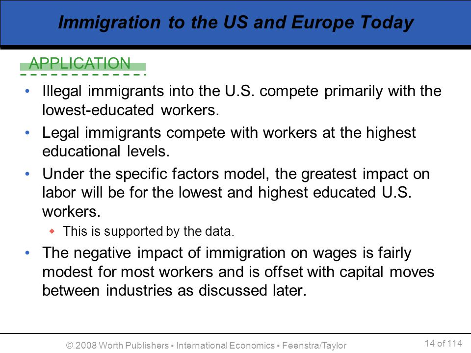 The negative effects of immigration on america