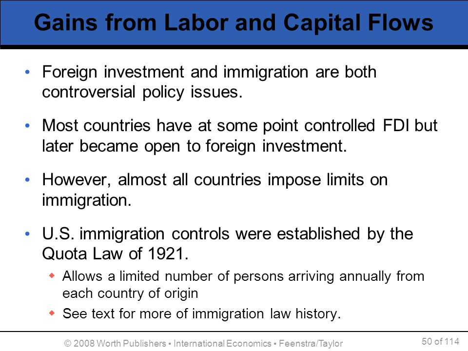 MOVEMENT OF LABOR AND CAPITAL BETWEEN COUNTRIES Ppt Download - Capital of all countries