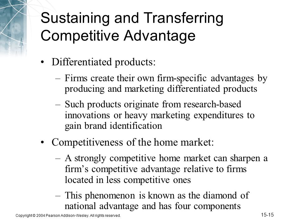 firm specific advanatages essay Internal analysis inputs to strategy by offering specific types of products if competitors are able to counter the firm's value-creating strategy with.