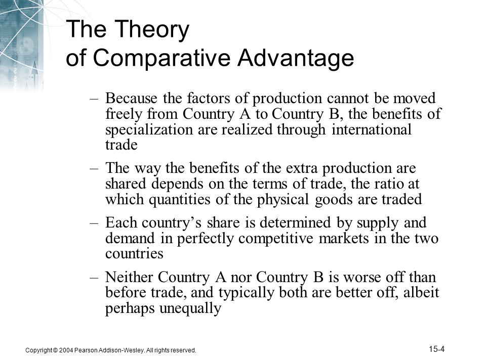 The Theory Of Comparative Advantage Essay Term Paper Writing