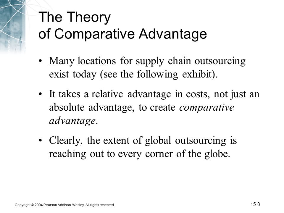 the theory of comparative advantage-essay The theory of comparative advantage is perhaps the most important concept in international trade theory as the economies that exist in our world our becoming.