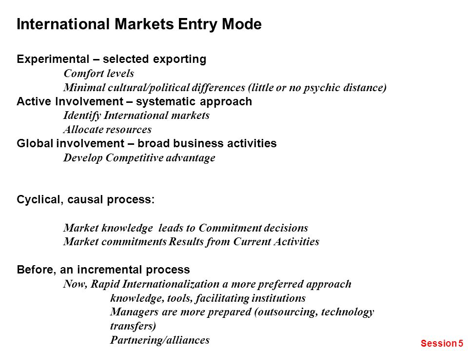 international markets entry evaluation process The decision to venture abroad involves the evaluation of alternative entry international entry and country in a competitive international market.