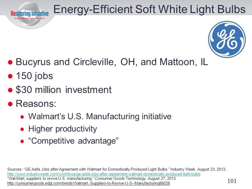 Energy-Efficient Soft White Light Bulbs