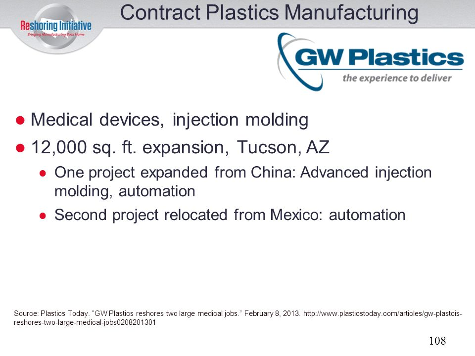 Contract Plastics Manufacturing