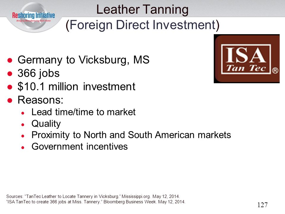 Leather Tanning (Foreign Direct Investment)