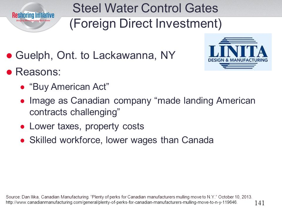 Steel Water Control Gates (Foreign Direct Investment)