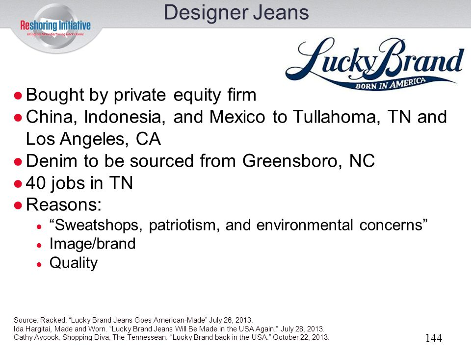 Designer Jeans Bought by private equity firm