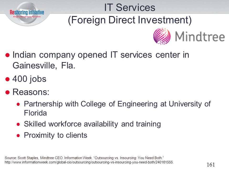 IT Services (Foreign Direct Investment)