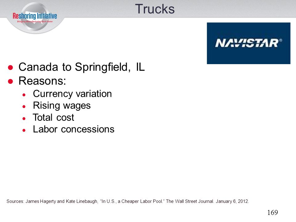 Trucks Canada to Springfield, IL Reasons: Currency variation