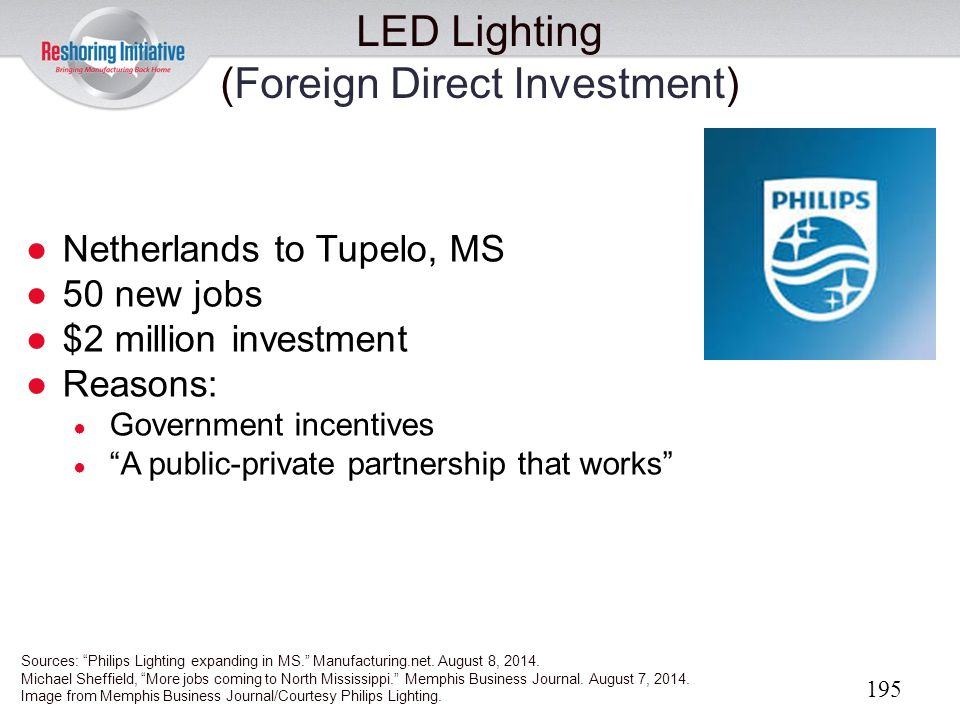 LED Lighting (Foreign Direct Investment)