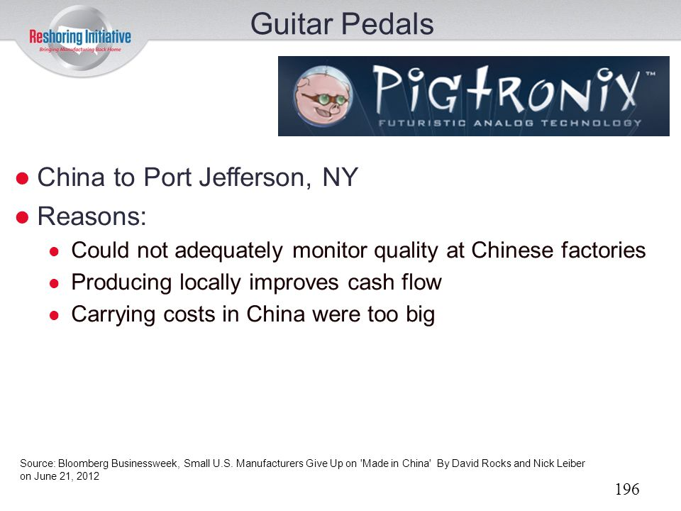 Guitar Pedals China to Port Jefferson, NY Reasons:
