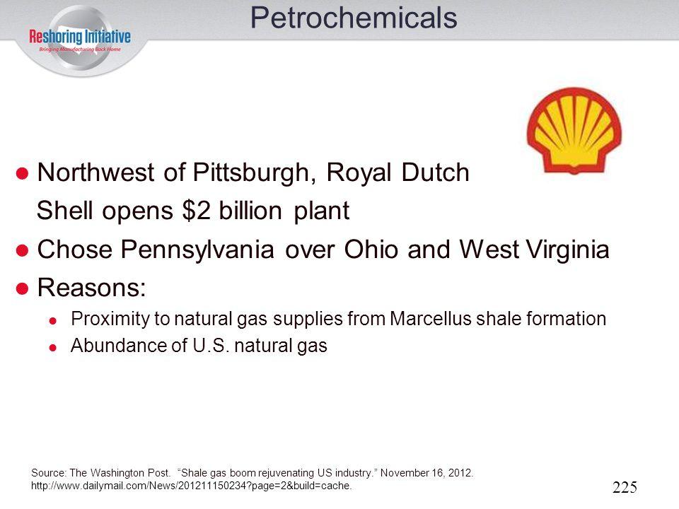 Petrochemicals Northwest of Pittsburgh, Royal Dutch