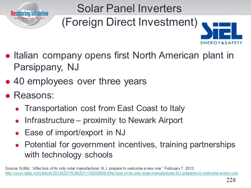 (Foreign Direct Investment)