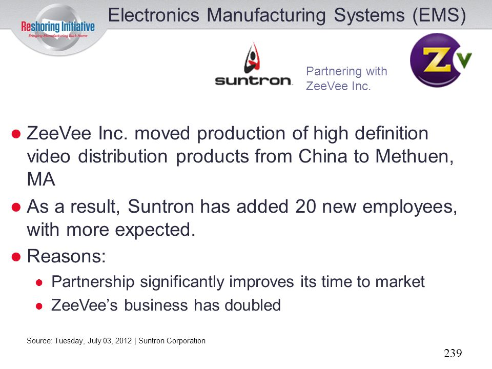 Electronics Manufacturing Systems (EMS)