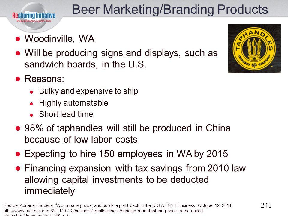 Beer Marketing/Branding Products