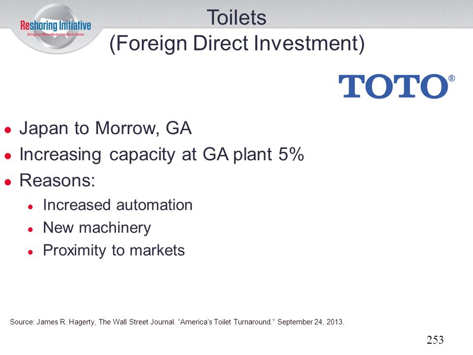 Toilets (Foreign Direct Investment)