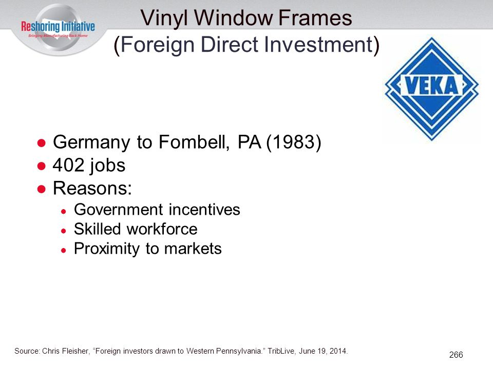 Vinyl Window Frames (Foreign Direct Investment)