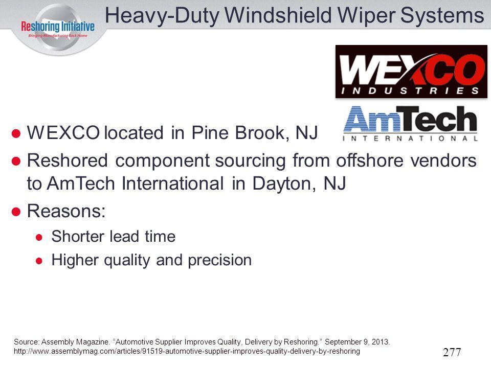 Heavy-Duty Windshield Wiper Systems