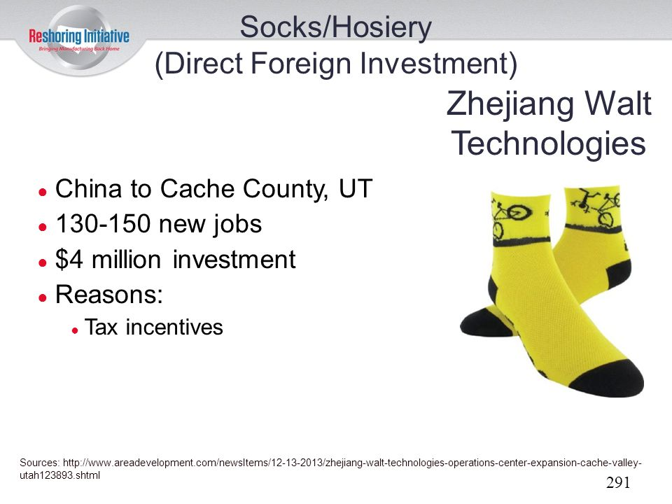 Socks/Hosiery (Direct Foreign Investment)