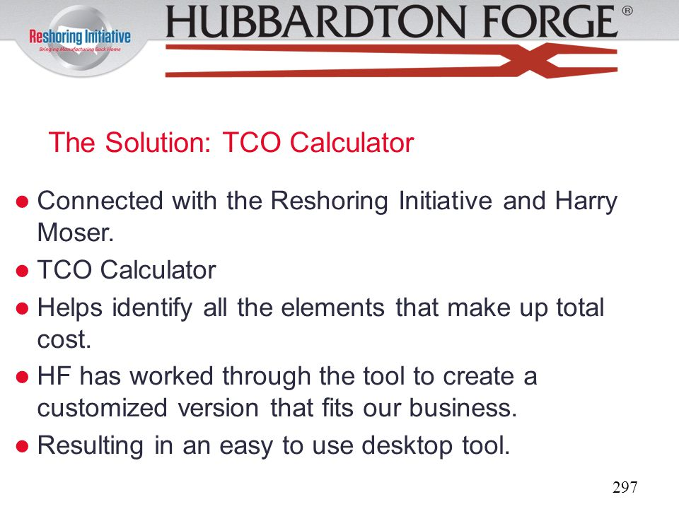 The Solution: TCO Calculator