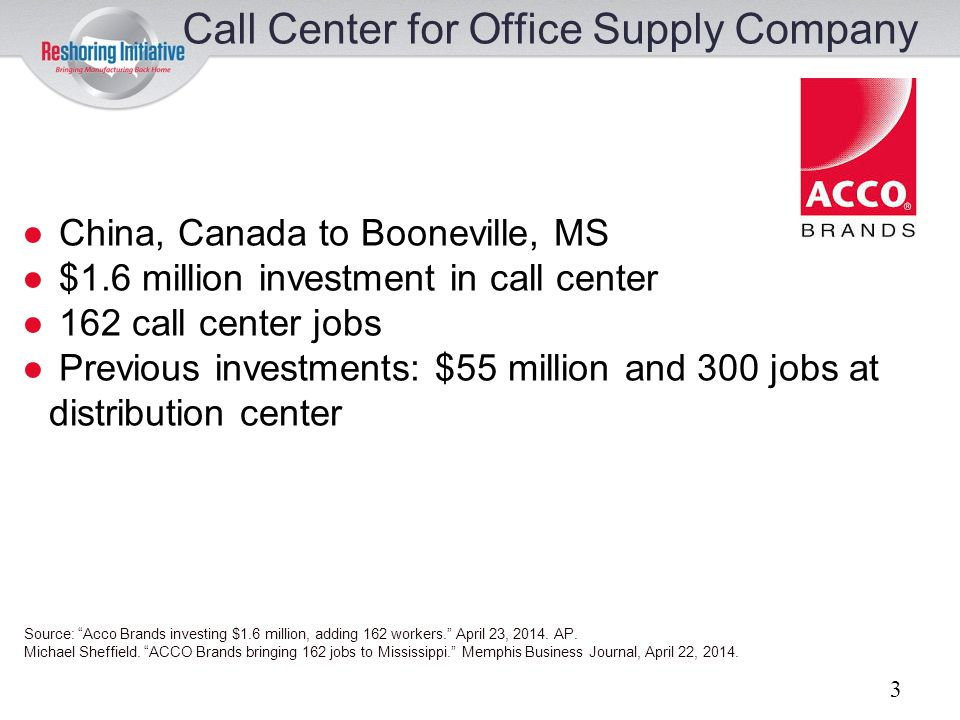 Call Center for Office Supply Company