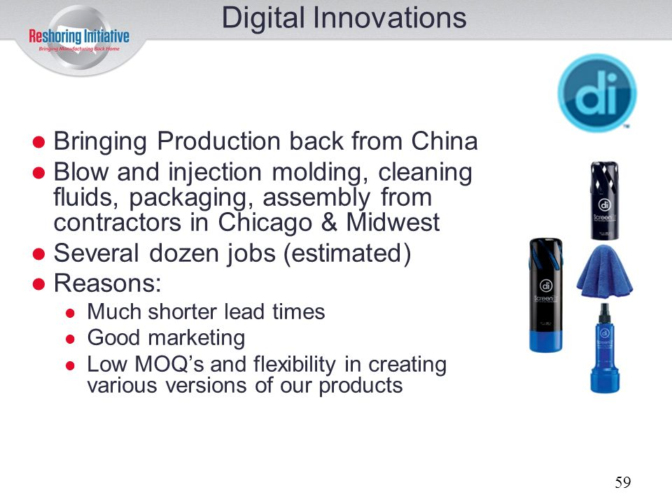 Digital Innovations Bringing Production back from China