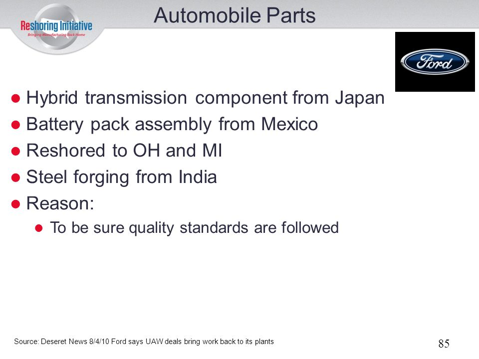Automobile Parts Hybrid transmission component from Japan