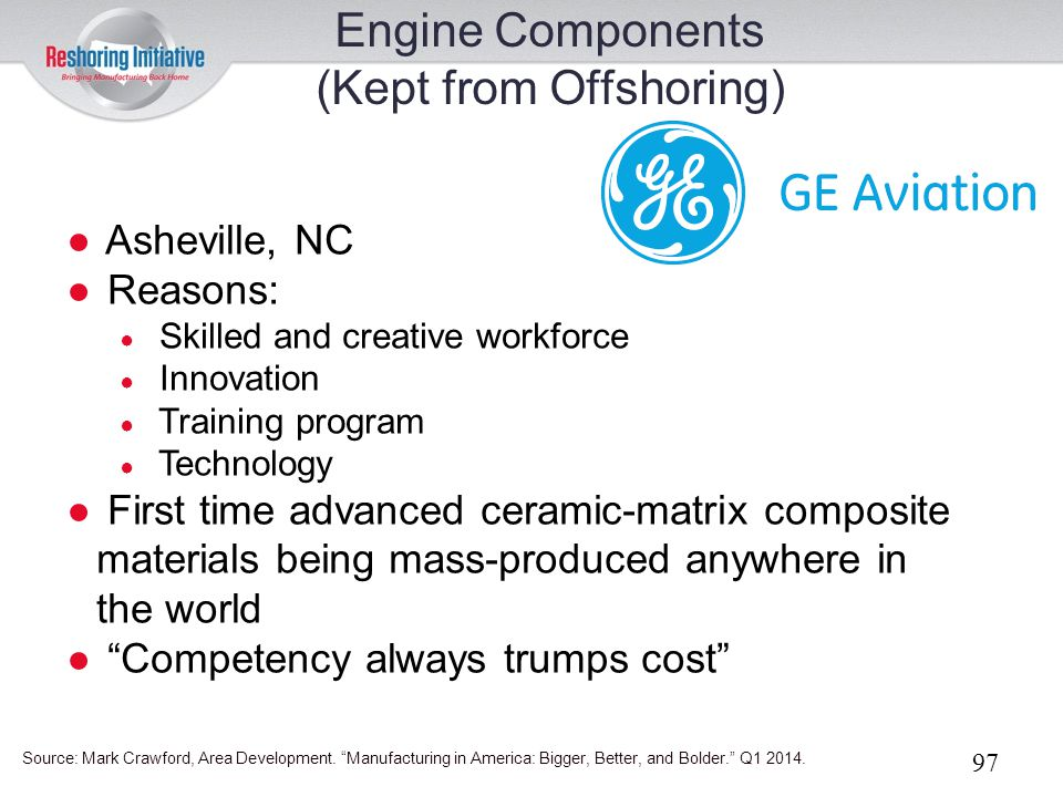 Engine Components (Kept from Offshoring)