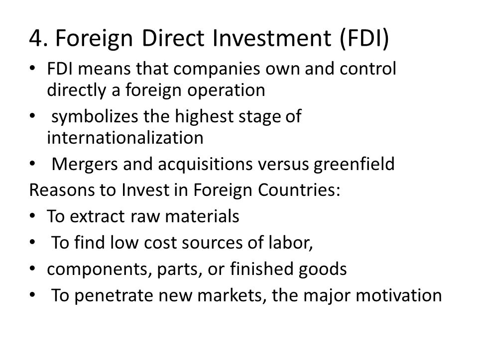 disadvantages of foreign direct investment to host country The advantages of foreign direct investment the standard of living of a host country increases with foreign direct disadvantages of foreign direct investment.