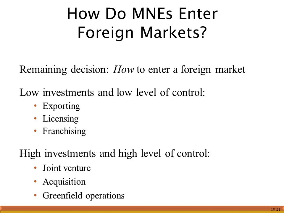 advantages and disadvantages of using a joint venture to enter foreign markets Finally, before selecting an entry mode for entering into the foreign market,   however, there are various disadvantages also, firstly, the pioneering costs are   a joint venture with local partner, the company can enjoy varied advantages,  such.