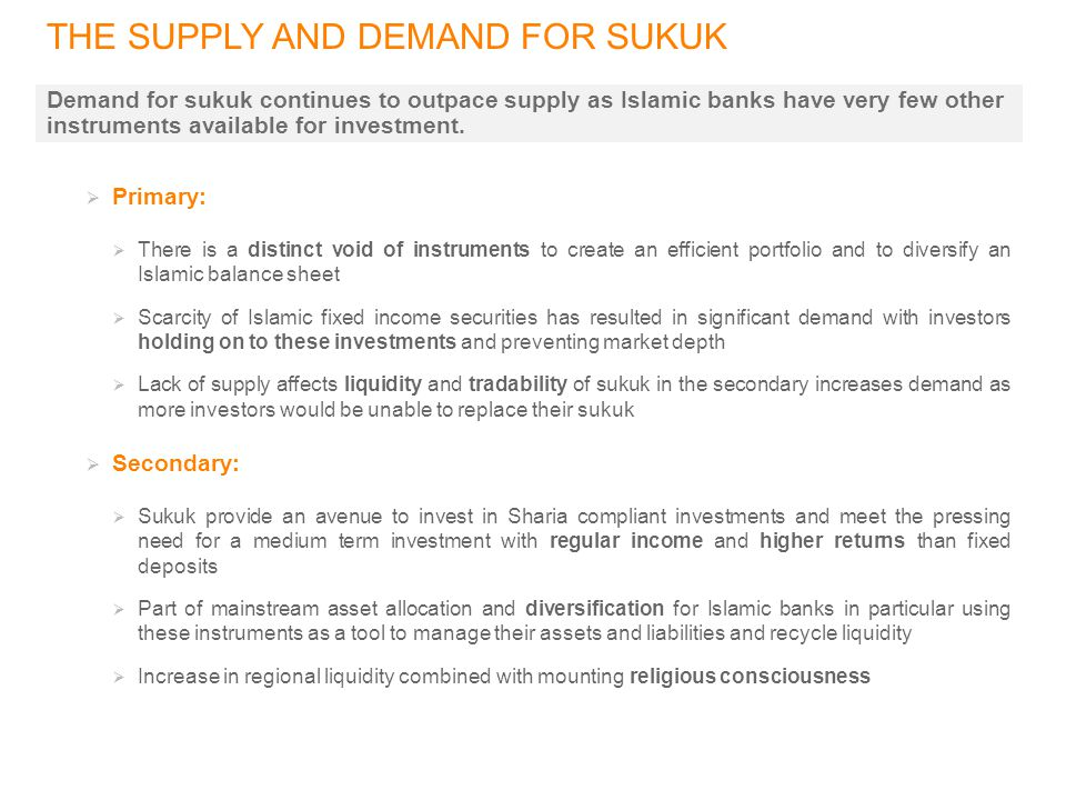 THE SUPPLY AND DEMAND FOR SUKUK