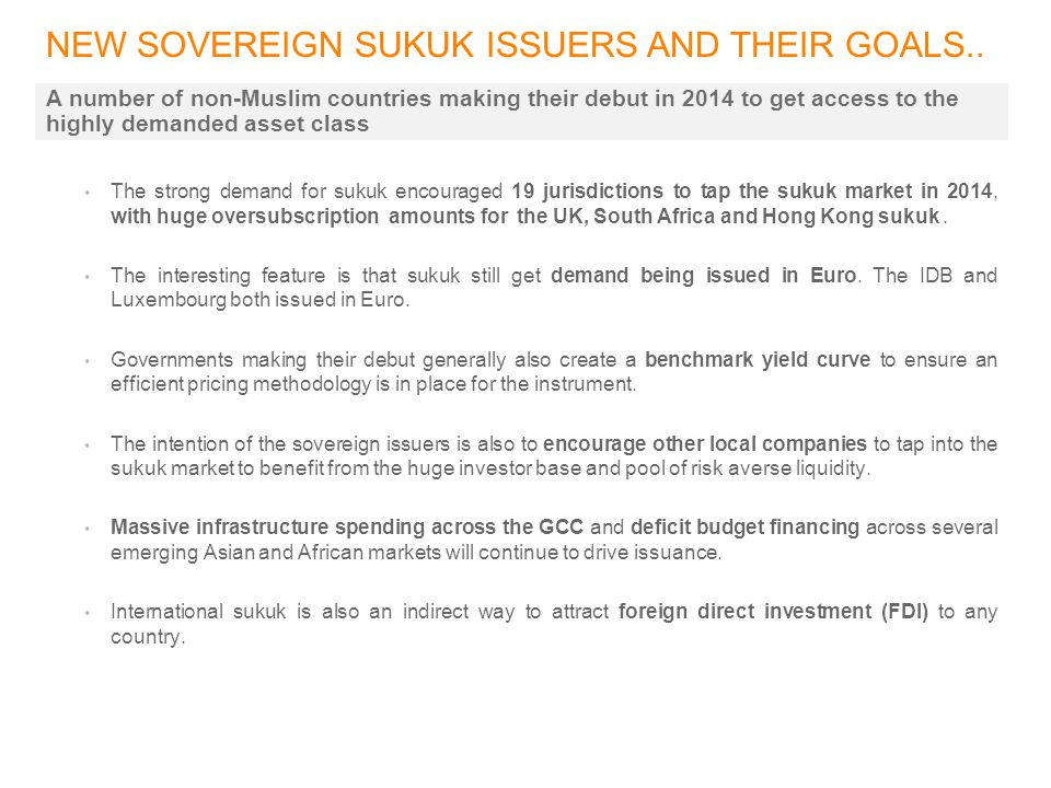 NEW SOVEREIGN SUKUK ISSUERS AND THEIR GOALS..