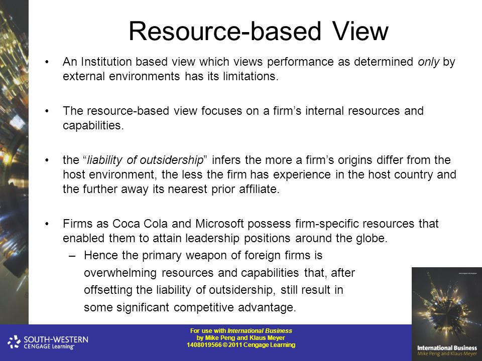 coca cola a resource based view business essay Introduction under the perspective of resource based view, a firm competency and resources are what enable a firm to gain competitive advantage.