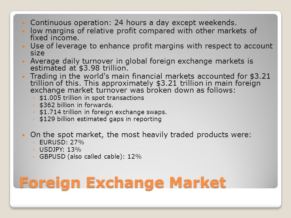 Foreign exchange market size