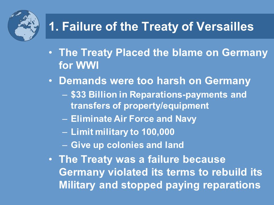 was the treaty of versailles too harsh on germany essay
