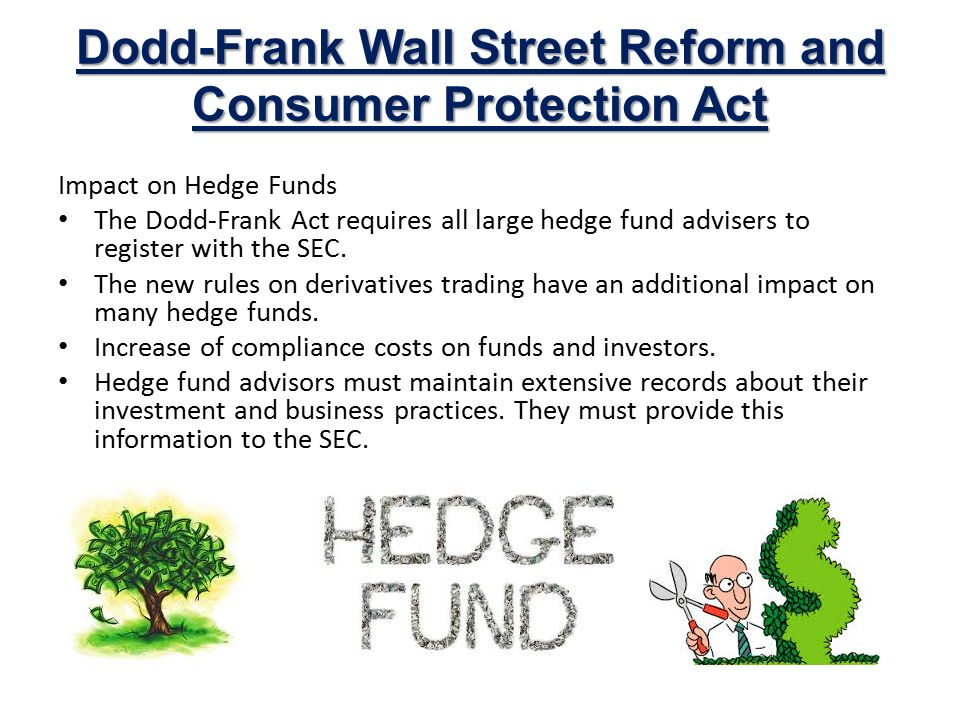 dodd frank wall street reform and In response to the global economic turmoil that began in late 2007, the dodd-frank wall street reform and consumer protection act of 2010, pub l no 111-203 (2010), introduced a broad array of regulatory reforms in the financial sector.
